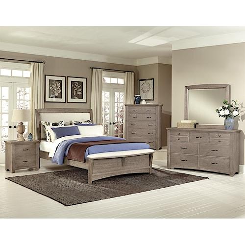 Vaughan bassett transitions queen bedroom group belfort for Bedroom furniture sets malta