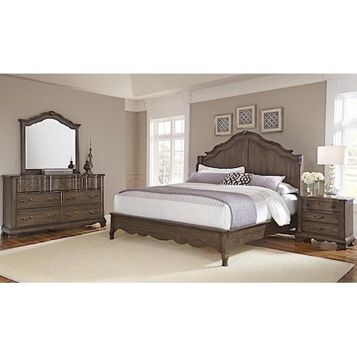 Vaughan Bassett Villa Sophia Queen Bedroom Group Belfort Furniture Bedroo