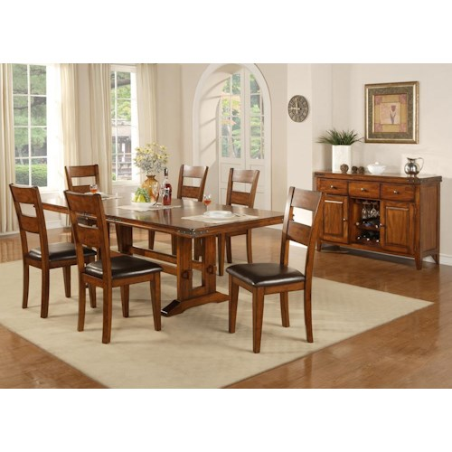 winners only mango casual dining room group sheely 39 s. Black Bedroom Furniture Sets. Home Design Ideas