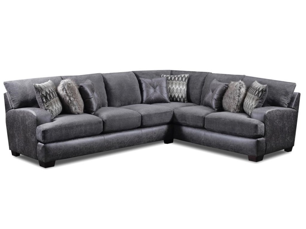 3250 Contemporary 5 Seat L Shaped Sectional By Seminole Furniture