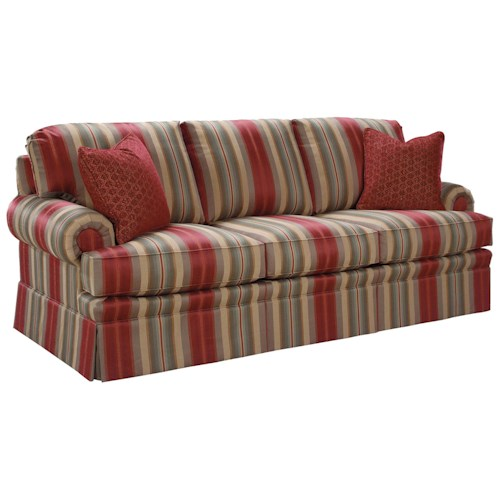 Fairfield 3720 Rolled Arm Accent Sofa