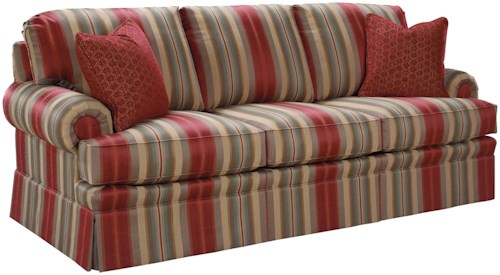 Fairfield 3720 Rolled Arm Accent Sofa with Queen Sleeper