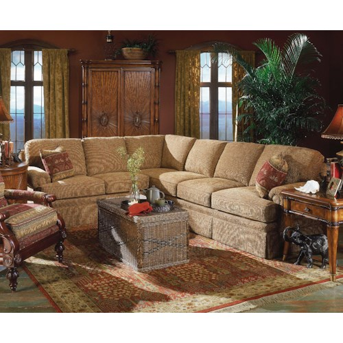 Fairfield 3720 Winsome Sectional Sofa with Sleeper
