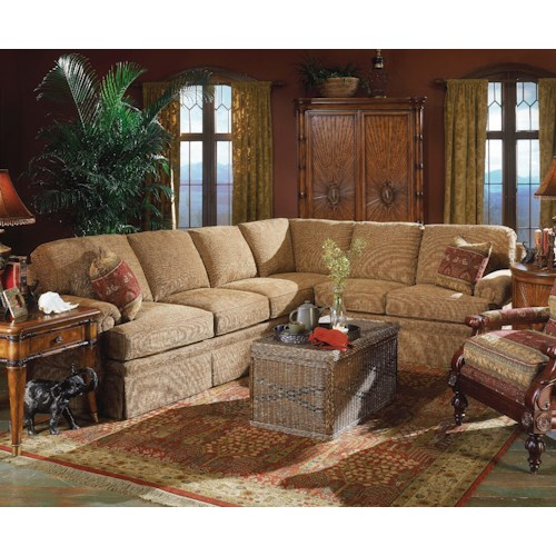 Fairfield 3720 Elegant Sectional Sofa with Sleeper