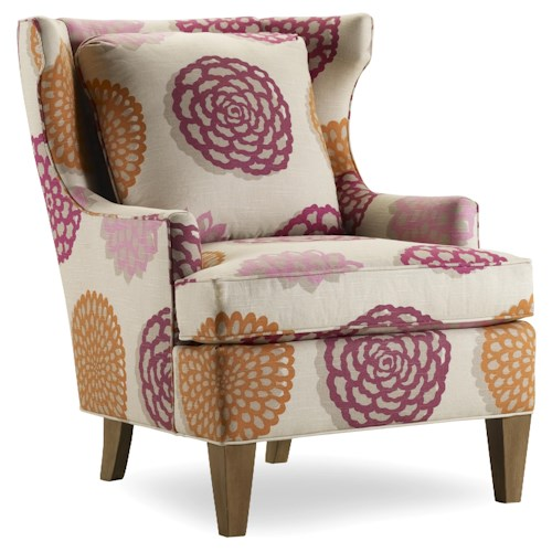 Sam Moore Burke Contemporary Wing Chair