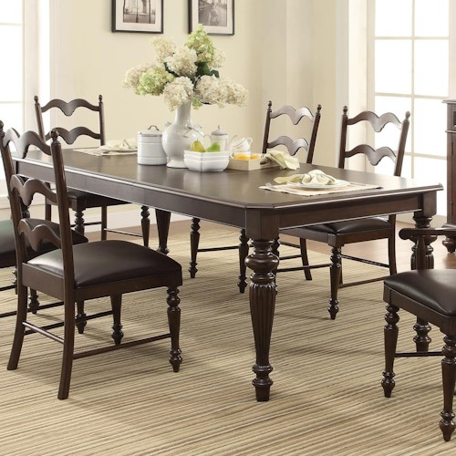 Winners Only Cambridge Rectangular Leg Table with 20