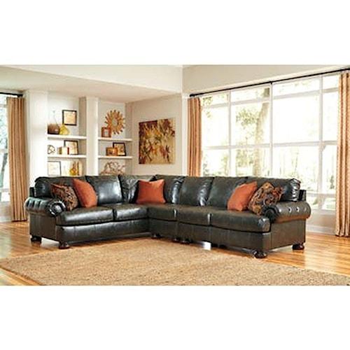 Boulevard Home Furnishings Ashley Furniture Nesbit Durablend Sectional Sofas