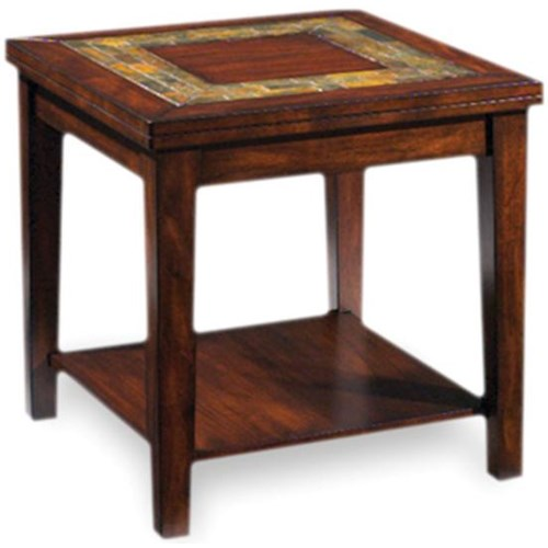Steve Silver Davenport  Transitional End Table with Slate Inlay