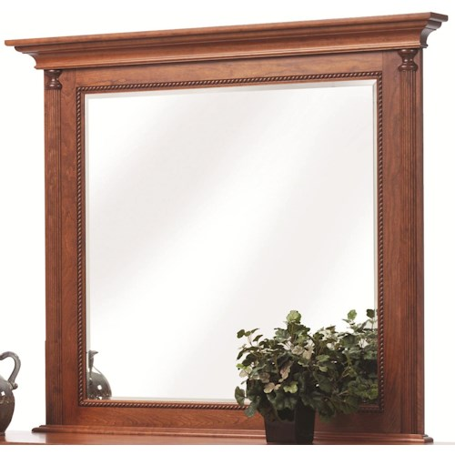 Rotmans Amish Fur Elise Mirror with Rope Molding Detail