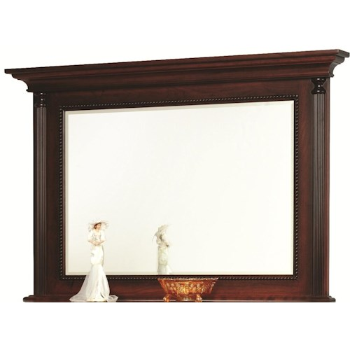 Rotmans Amish Fur Elise Landscape Mirror with Fluted Pilasters