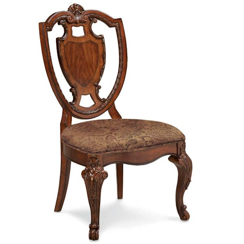 Markor Furniture Old World Shield Back Side Chair Dubois Furniture Dining Side Chair Waco