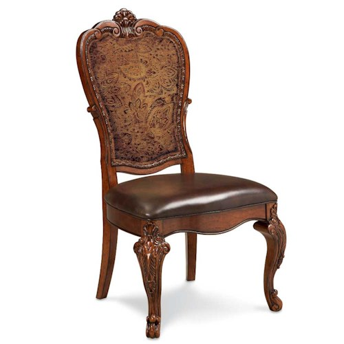 A.R.T. Furniture Inc Old World Upholstered Back Side Chair