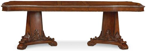 A.R.T. Furniture Inc Old World Double Pedestal Dining Table