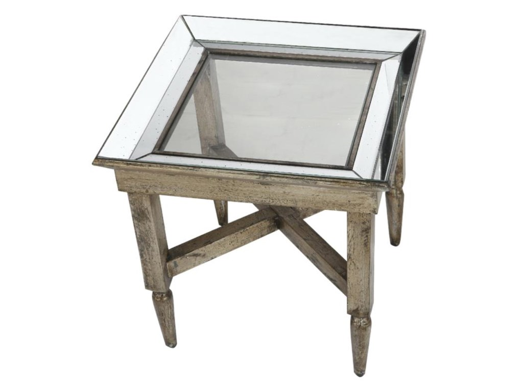 A & B Home Occasional AccentsJordan Mirrored End Table