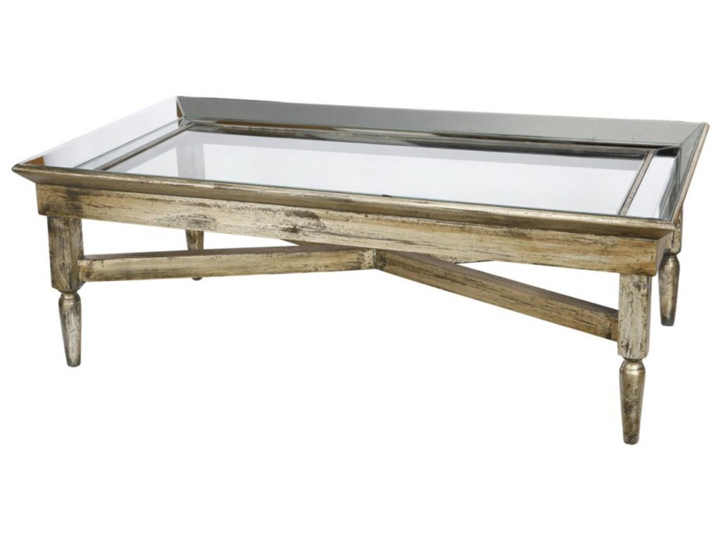 A B Home Occasional Accentsjordan Mirrored Coffee Table
