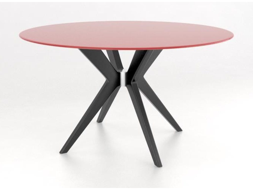 Downtown glass top dining table by a la carte by canadel