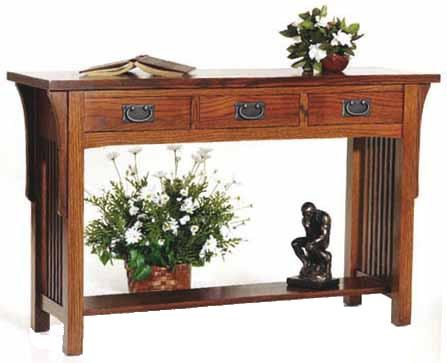 Aa Laun Arts And Crafts Sofa Table With 3 Drawers And Shelf Ahfa