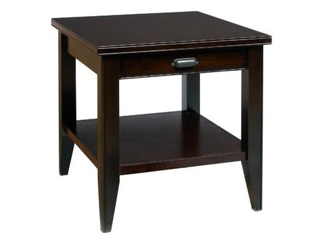 AA Laun Metropolitan End Table with Drawer and Shelf