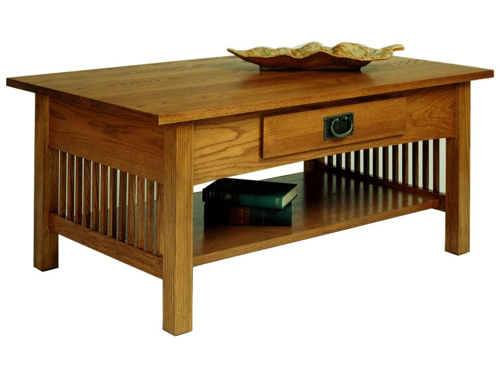 AA Laun Workbench ClassicsCocktail Table with Drawer and Shelf