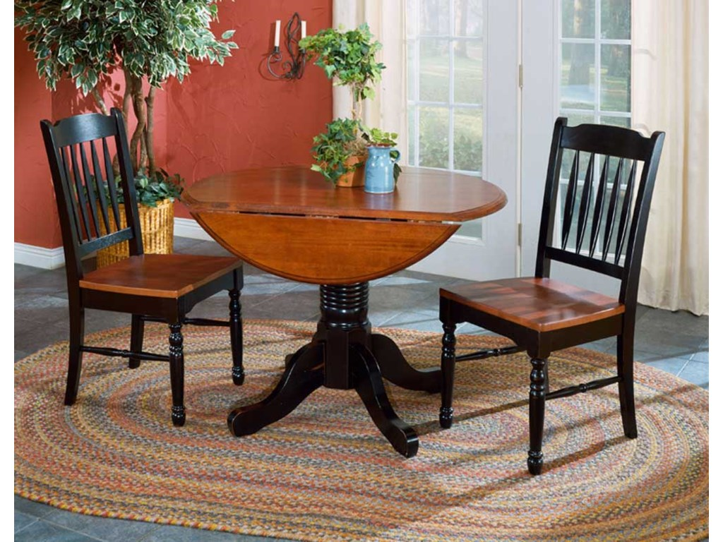Aamerica British Isles Round Dropleaf Table And Chairs Rooms For