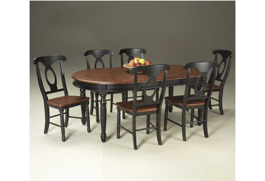 Hamilton 7 Piece Oval Leg Table With Chairs Ruby Gordon Home Dining 7 Or More Piece Sets
