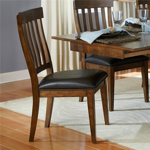 AAmerica Mariposa Side Chair with Slatback