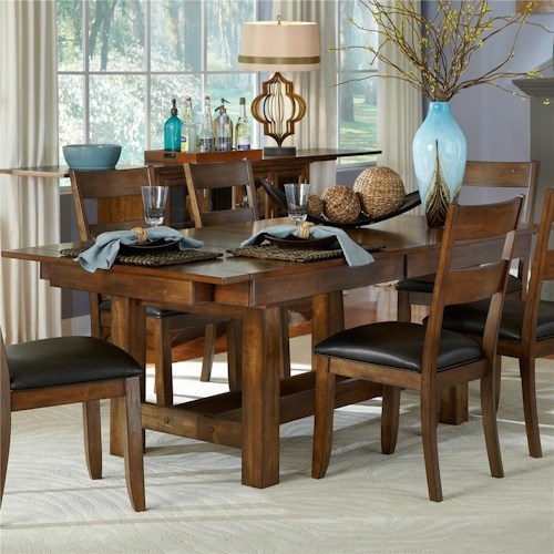 AAmerica Mariposa Trestle Table with 3 Butterfly Storage Leaves