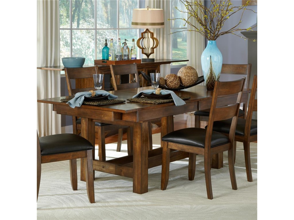 a63e25333b2c AAmerica Mariposa Trestle Table with 3 Butterfly Storage Leaves ...
