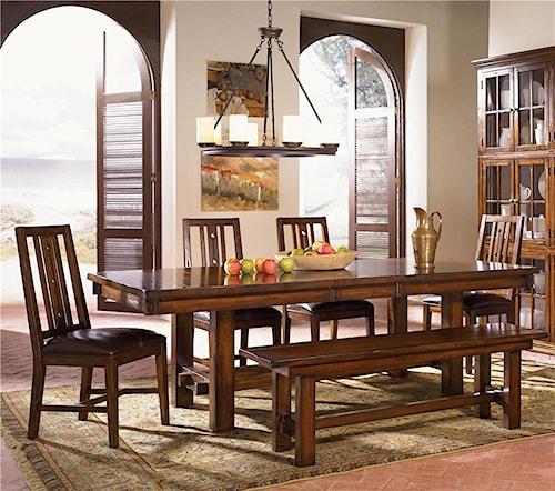 AAmerica Mesa Rustica Six Piece Table & Chair Set