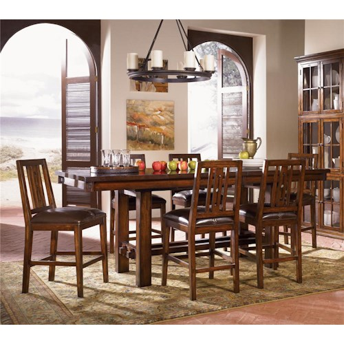 AAmerica Mesa Rustica 5Pc Counter Height Dinette