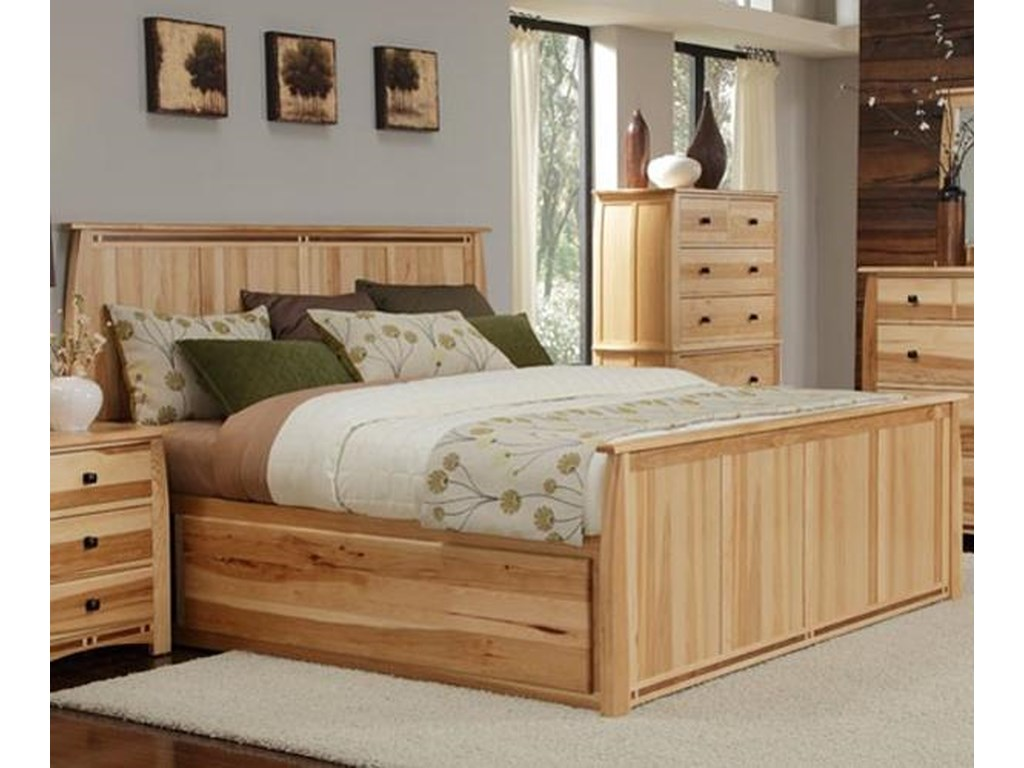 AAmerica AdamstownQueen Panel Bed with Storage