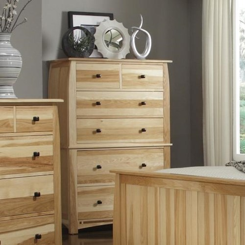 AAmerica Adamstown Solid Hickory Chest with Solid Black Walnut Inlay