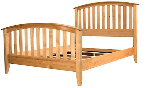 AAmerica Alderbrook King Slat Arched Bed
