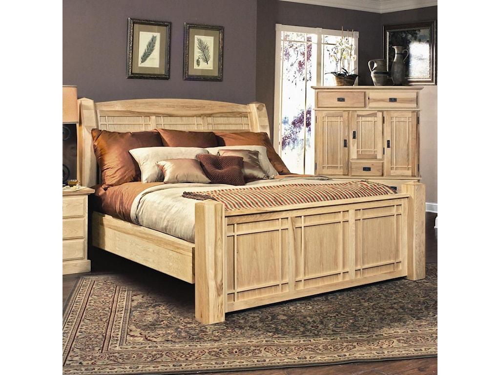 AAmerica Amish HighlandsKing Arch Panel Bed