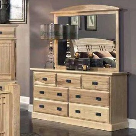Dresser with Landscape Mirror