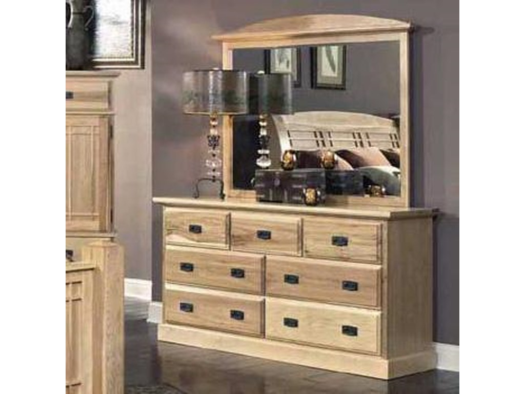 AAmerica Amish HighlandsDresser with Landscape Mirror