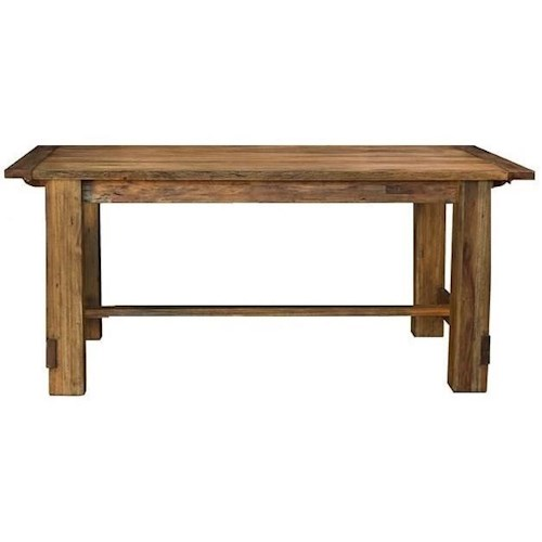 AAmerica Anacortes Rectangle Trestle Dining Table with Leaf