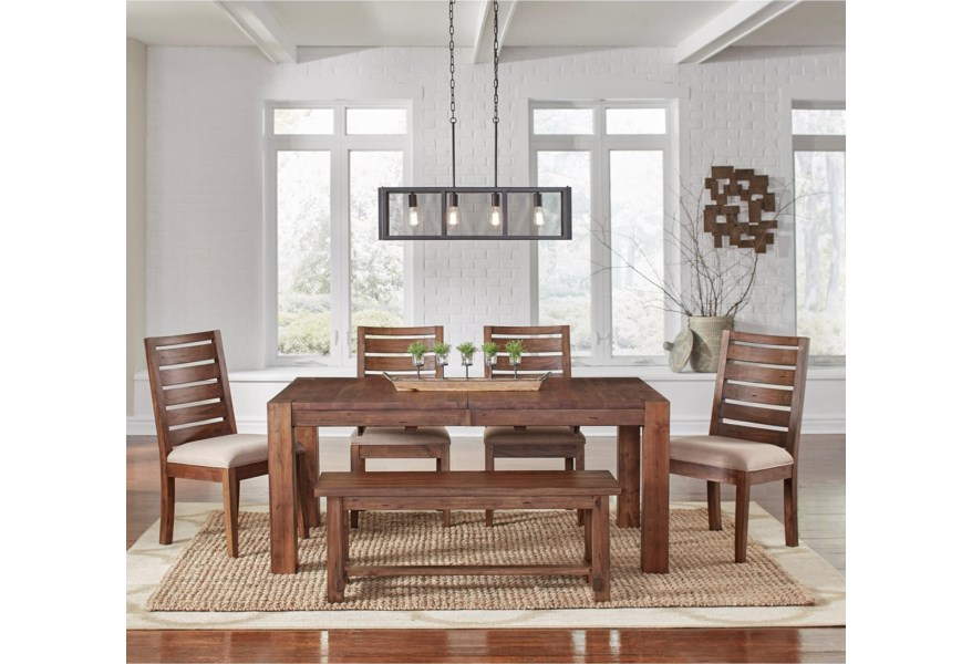 Aamerica Anacortes 6 Piece Dining Set Rooms For Less Table Chair Set With Bench
