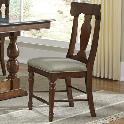 AAmerica Andover Park T-Back Upholstered Side Chair