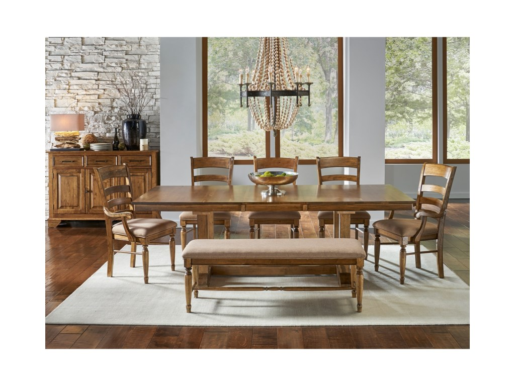 AAmerica Bennett7 Piece Trestle Dining Set