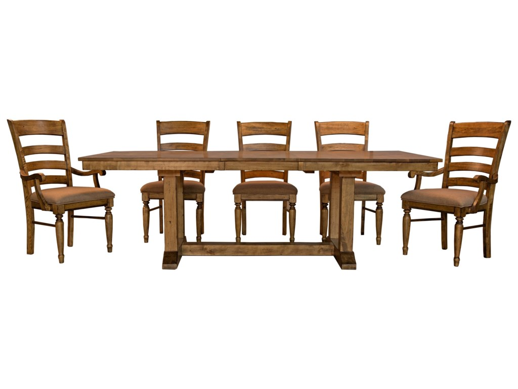 AAmerica Bennett6 Piece Trestle Dining Set