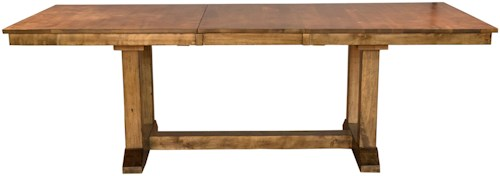AAmerica Bennett Rectangular Trestle Dining Table