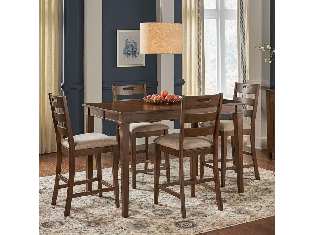 AAmerica Blue Mountain5-Piece Counter Height Table and Stool Set