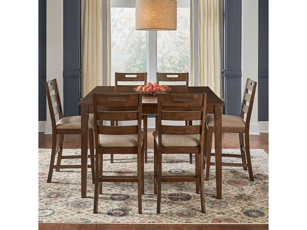 AAmerica Blue Mountain7-Piece Counter Height Table and Stool Set