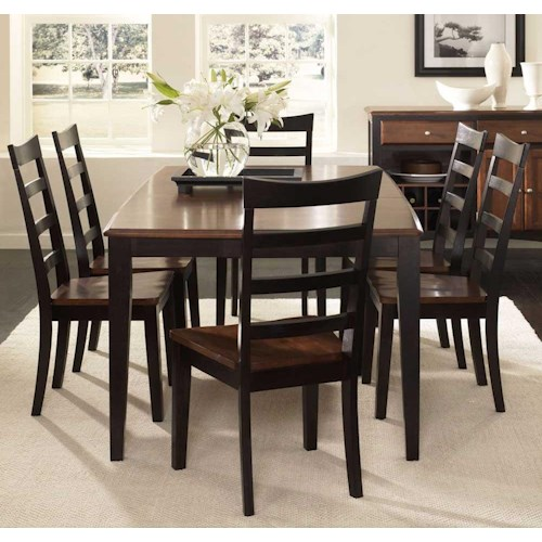 AAmerica Bristol Point Butterfly Leg Table with 18