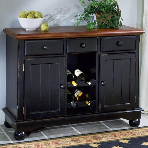 Aamerica British Isles Dining Storage Server Buffet With