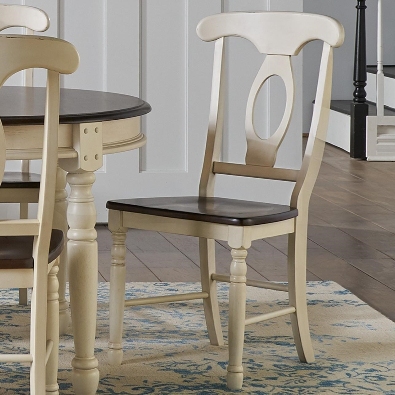 AAmerica British Isles   CO Two Tone Napoleon Dining Side Chair