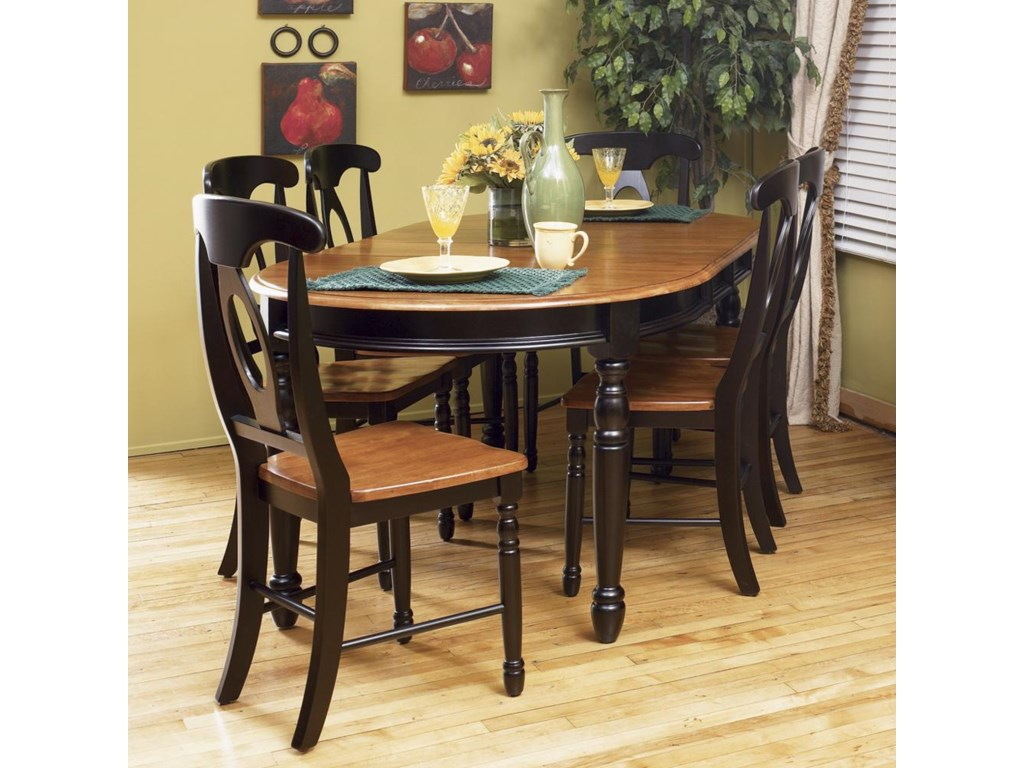 Napoleon Chair Shown with Oval Dining Table