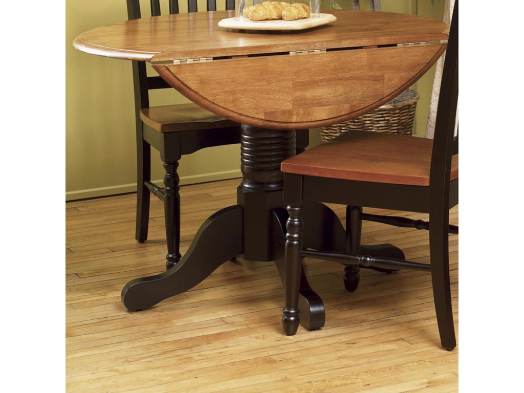AAmerica British Isles Round Dropleaf Table with Pedestal Base ... on havertys furniture kitchen sets, diamond furniture kitchen sets, value city furniture kitchen sets, macy's kitchen sets, regency furniture kitchen sets,