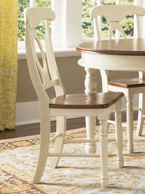 AAmerica British Isles Two-Tone Napoleon Dining Side Chair